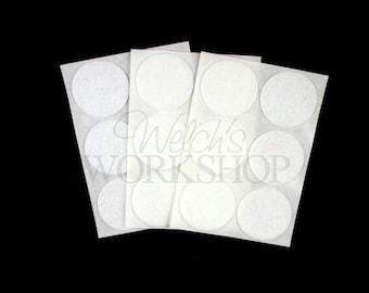 "White - Set of 18 Adhesive 2"" Felt Circles - 2-AFC-005"