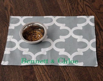 Personalized Placemat for your dog or cat - Custom Pet Mat available in ALL SIZES