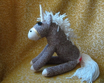 Rockford Red Heel Sock Monkey Unicorn Pony - Handmade - New