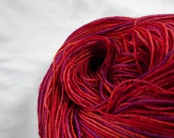 Self-Striping Hand Dyed Sock Yarn - Superwash BFL - 100g (3.5 oz)