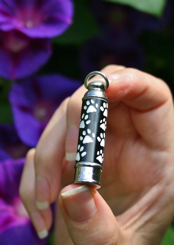 Pet cremation jewelry urn for ashes pendant or necklace dog for Cremation jewelry for pets ashes