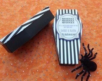 Beetlejuice 12 party favor Coffins (12) - Beetlejuice Weddings