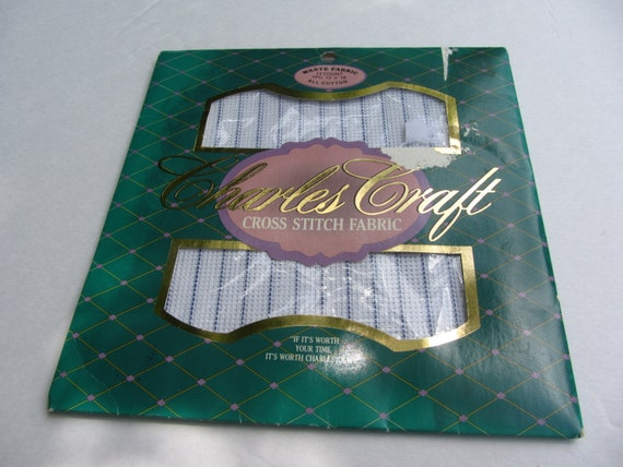 Charles craft cross stitch canvas waste fabric 14 count for Charles craft cross stitch fabric
