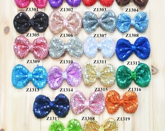 "3.5"" Sequin Bows - 20 colors - Sequin bows  - you choose your color"