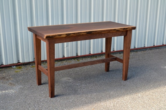 Counter Height Work Table : Live Edge Walnut Work Table