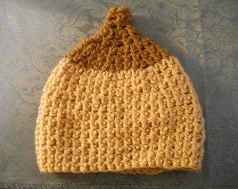 Pro-Breastfeeding Handmade Crocheted Boobie Beanie For Baby 3-6 Months