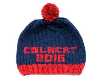 Colbert 2016 Hand Knit Hat