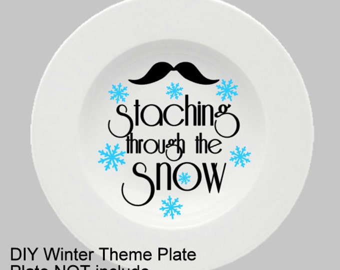 Staching Through The - Christmas Plate Decal for DIY Plates, Frames, and more...Plate Not Included