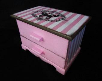 Pink Jewelry Organizer/ Jewelry Box