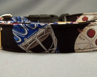 Colorful Masks Hockey Dog Collar