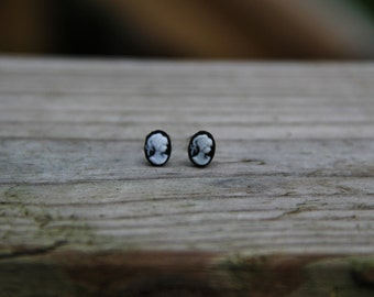 Mini Cameo Portrait Stud Earrings!