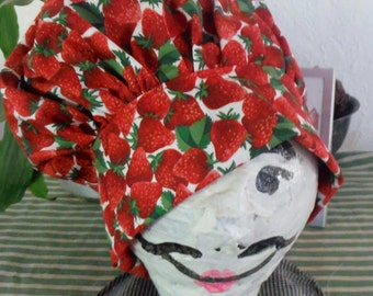 Strawberry Patch Chef Hat