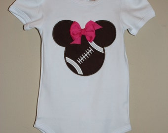 Infant/Toddler Mouse Head Football Applique