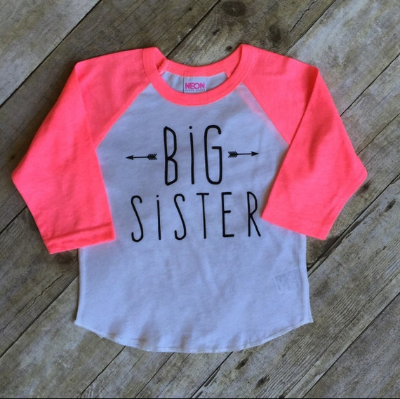 Girls big sis outfit big sister shirt little by for Big sister birth announcement shirts