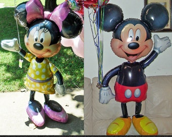 Minnie Mouse and Mickey Mouse Walker character party decorations