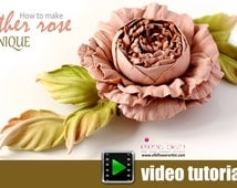 Video tutorial on how to make leather rose using flower making tools