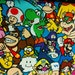Video game Mario Luigi Yoshi Princess Peach-  Fat Quarter Fabric Cotton Print