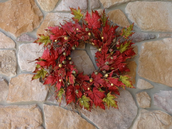 Sale Clearance Large Fall Twig Wreath Autumn Wreath Leaf