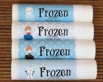 Frozen Lip Balm - Olaf, Anna and Elsa Handmade Lip Balm - Homemade Lip Balm