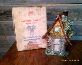 Vintage LaCrima Cristi Porcelain Cottage Wine Decanter, Vintage Decanters, Porcelain Decanters, Pub Decanter, Bar Decanter, Pub Collectible