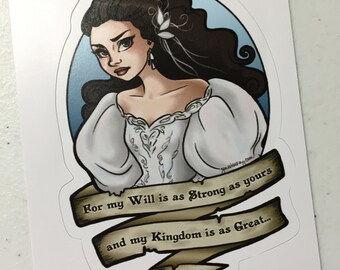 My Will is As Strong As Yours - Original Illustration Sticker