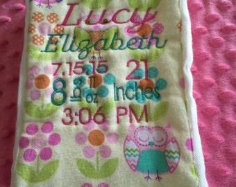 Personalized burp cloth
