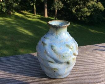 Pottery - Bud Vase - Blue ceramic bud vase
