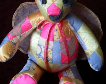 Patchwork Quilt Memory Teddy Bear