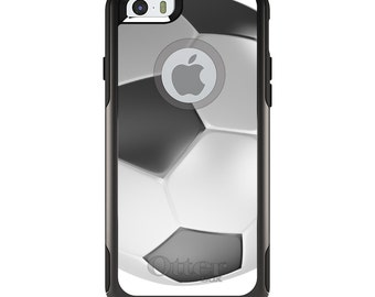 OtterBox Commuter for Apple iPhone 5S SE 5C 6 6S 7 8 PLUS X 10 - Custom Monogram - Any Colors - Soccer Ball 3D