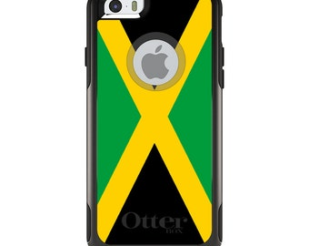 OtterBox Commuter for Apple iPhone 5S SE 5C 6 6S 7 8 PLUS X 10 - Custom Monogram - Any Colors - Jamaica Flag