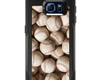 OtterBox Commuter for Galaxy S4 / S5 / S6 / S7 / S8 / S8+ / Note 4 5 8 - CUSTOM Monogram - Any Colors - Old Baseballs