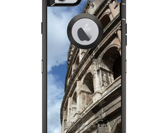 CUSTOM OtterBox Defender Case for Apple iPhone 6 6S 7 8 PLUS X 10 - Personalized Monogram - Roman Colosseum Rome