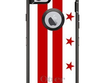 Custom OtterBox Defender Case for Apple iPhone 6 6S 7 8 PLUS X 10 - Personalized Monogram - Washington DC Flag