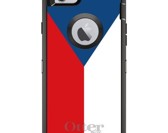 CUSTOM OtterBox Defender Case for Apple iPhone 6 6S 7 8 PLUS X 10 - Personalized Monogram - Czech Republic Flag
