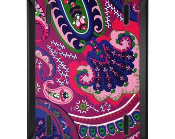 Custom OtterBox Defender for Apple iPad 2 3 4 / Air 1 2 / Mini 1 2 3 4 - CUSTOM Monogram - Pink Purple Green Paisley