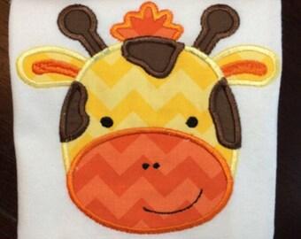 Personalized Giraffe Shirt, Onesie, Romper or Dress