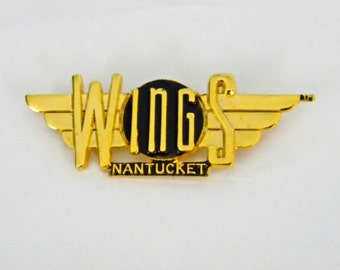 Wings TV Show Goldtone Pin, Nantucket