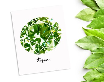 Peridot gemstone printable instant download birthstone - August birthday - instant downloadable - 8x10 inch gemstone print - green gemstone