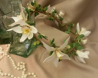 Tropical Orchid Bridal Crown