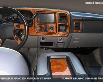 Chevrolet Chevy Tahoe LS LT 2000 2001 2002 Interior Set Wood Dash Trim Kit 24 Pcs