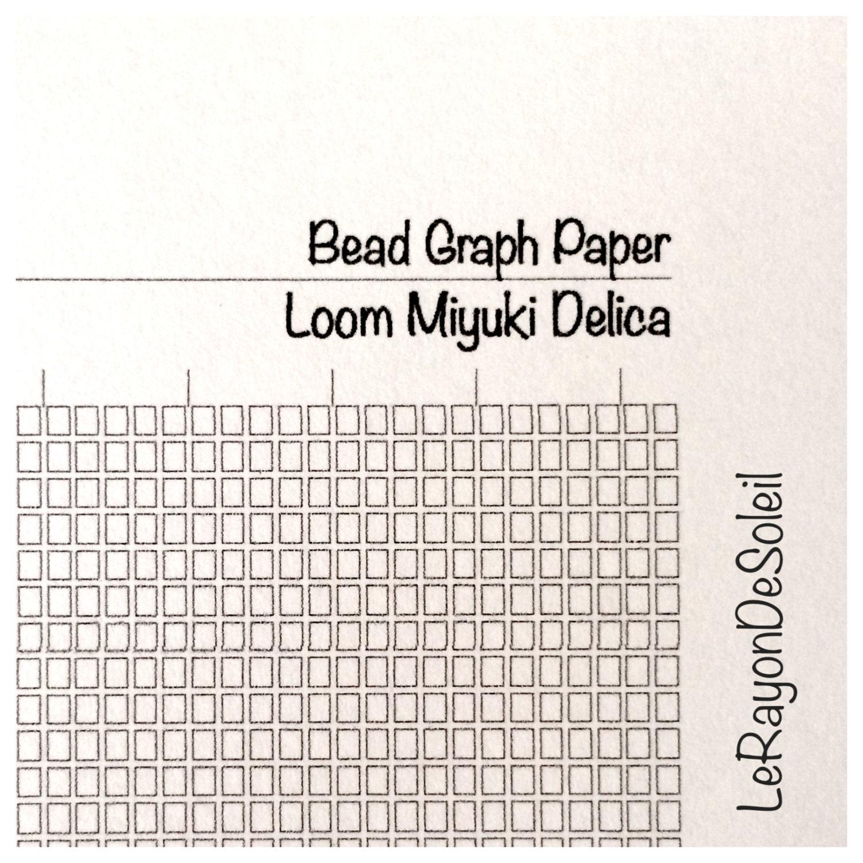 graph paper loom miyuki delica beads diy jewelry design. Black Bedroom Furniture Sets. Home Design Ideas