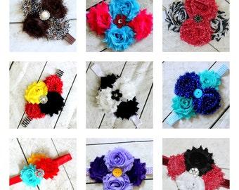 ADD a matching headband listiing Girls MATCHING girls shabby rose headband