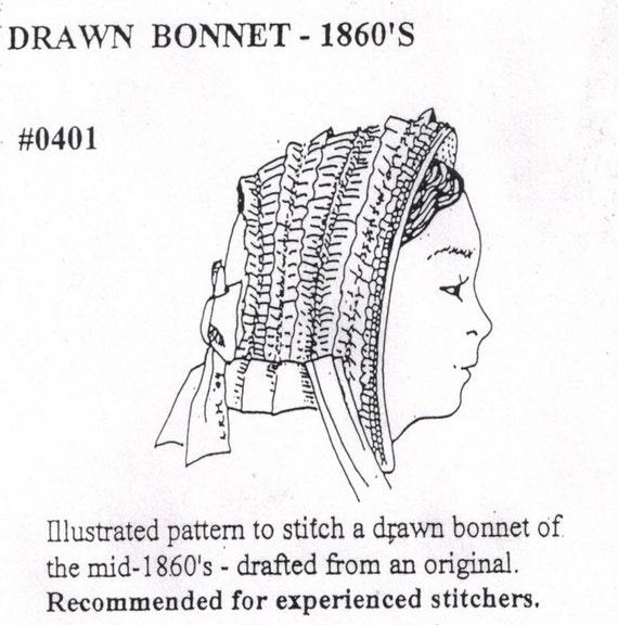 MI0401 - 1860s dibujado tapa costura patrón de sombreros Miller de ...