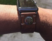 iWatch Apple Leather Watch Strap Band , Handmade watch band for 42mm Stainless 38mm, Valentines