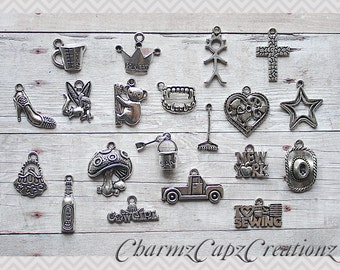 U-PICK Any 20 Individual Charms in my store from all listings, Mix and Match .....This way you get to choose the charms you want! :)