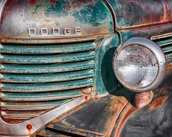 40s Dodge Pickup 1940s Dodge Ram Boyfriend Gift Dad Gift Mens Gift Dodge Emblem Country Decor Rustic Wall Decor Wall Art Masculine Wall Art