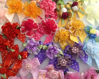 Dog's Grooming Bows - 30 Pcs. Assorted Flowers