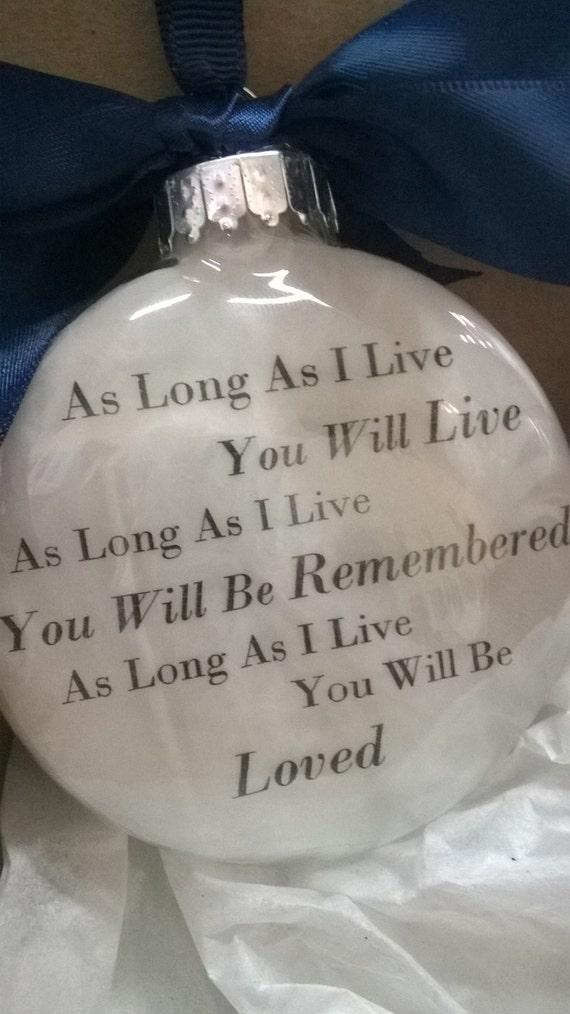 In Memory Gift Memorial Remembrance Christmas Ornament