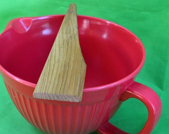 Hand Carved Wood Spatula, Primitive Wood Spoon, Primitive Spoon, Natural Spoon, Mixing Spoon, Oak Spatula, Oak Spoon, JJ Ladell's,