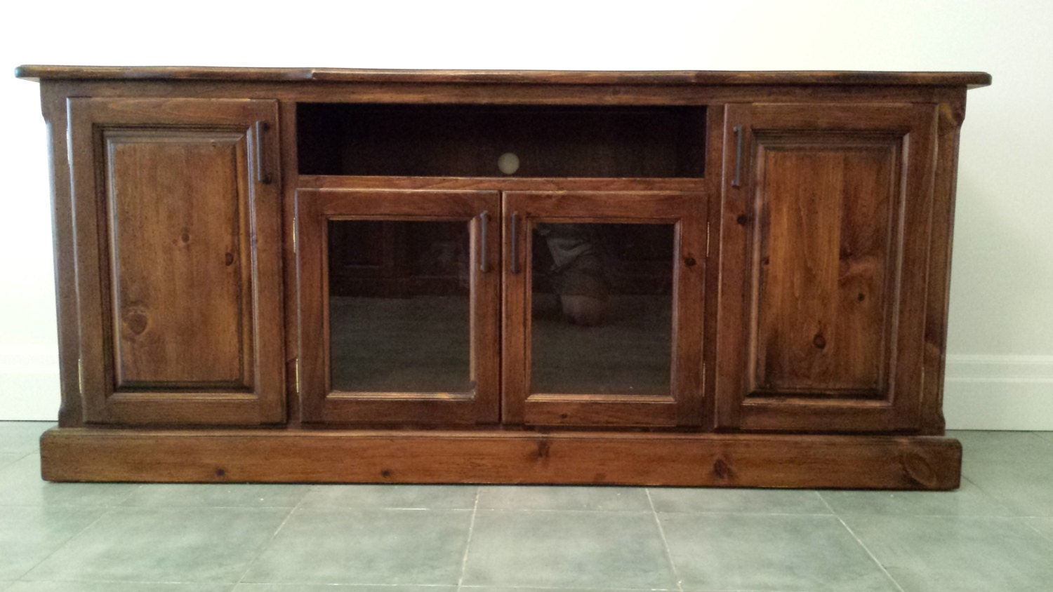 TV Console Rustic Furniture Pine TV Stand French